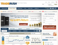 TradeRush Forex Homepage